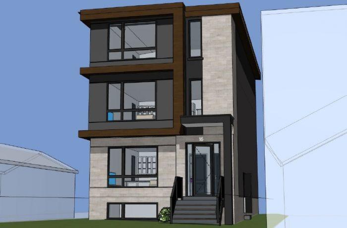 Custom Modern 5 plex in Toronto in Permit Phase